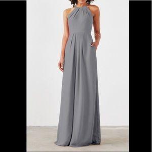 weddington dress in slate grey